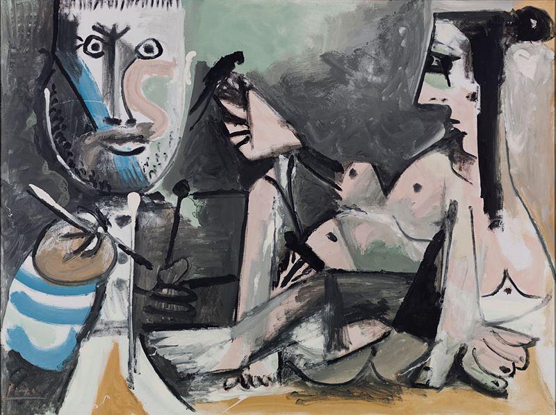 Ressam ve Modeli, 1964 resmi