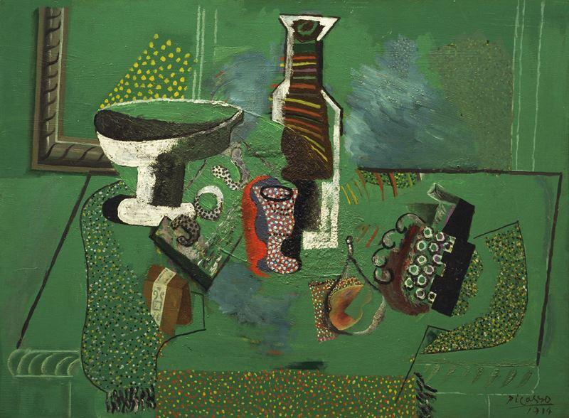 Yeşil Natürmort, 1914 resmi