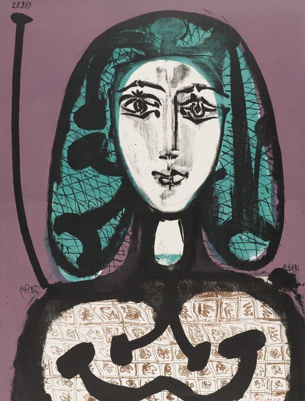 Yeşil Saçlı Kadın, 1956 resmi