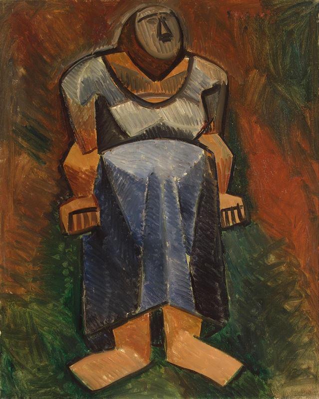 Çiftçi Kadın (Tam Boy), 1908 resmi