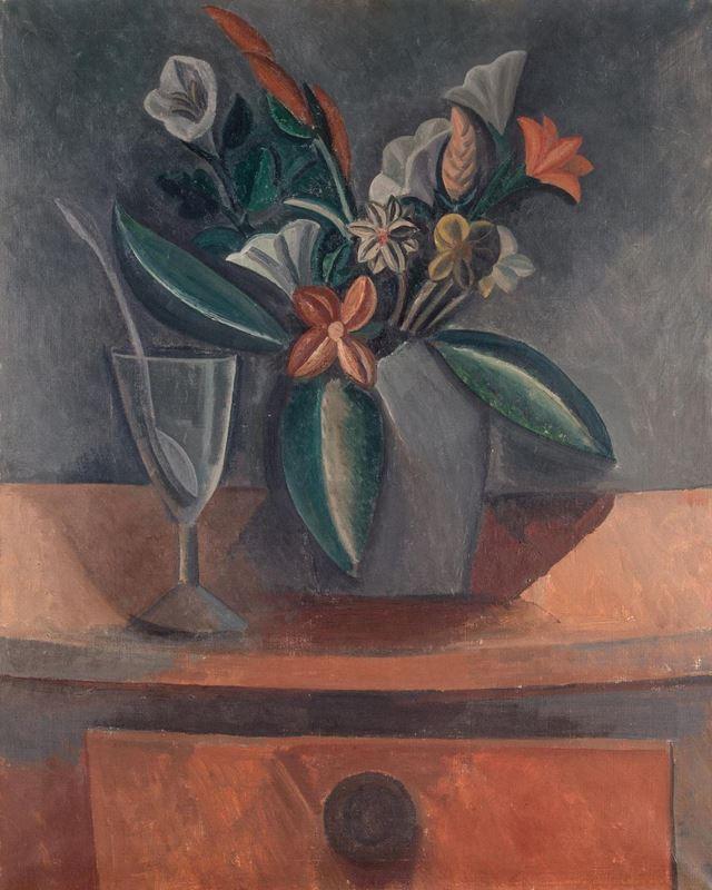 Gri Kavanozda Çiçekler, 1908 resmi