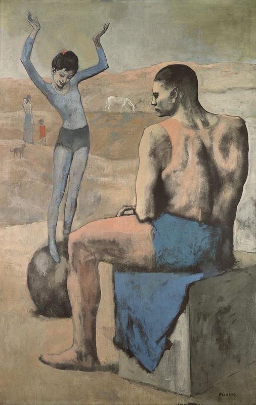 Topun Üzerindeki Genç Akrobat, 1905 resmi