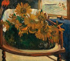 Show Sunflowers on an Armchair, 1901 details