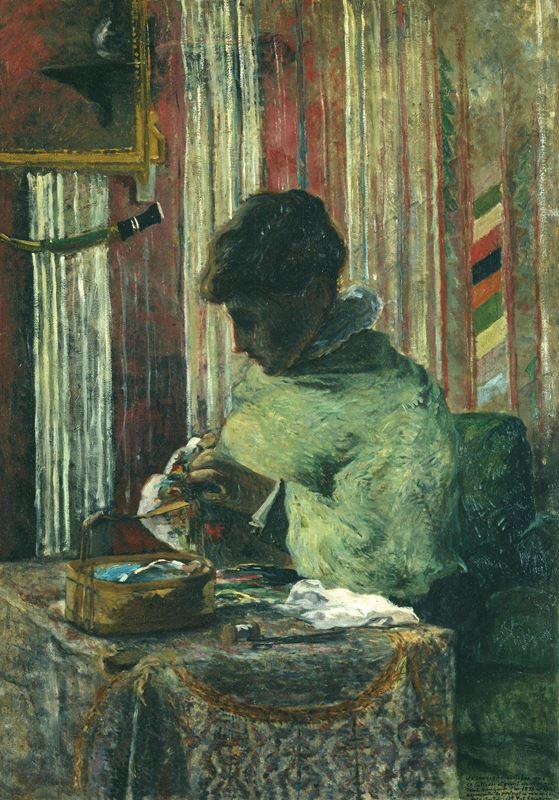 Nakışçı (Mette Gauguin), 1880 resmi