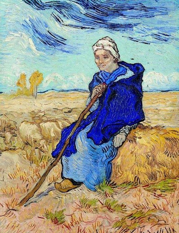 Kadın Çoban (Millet'den esinle), 1889 resmi