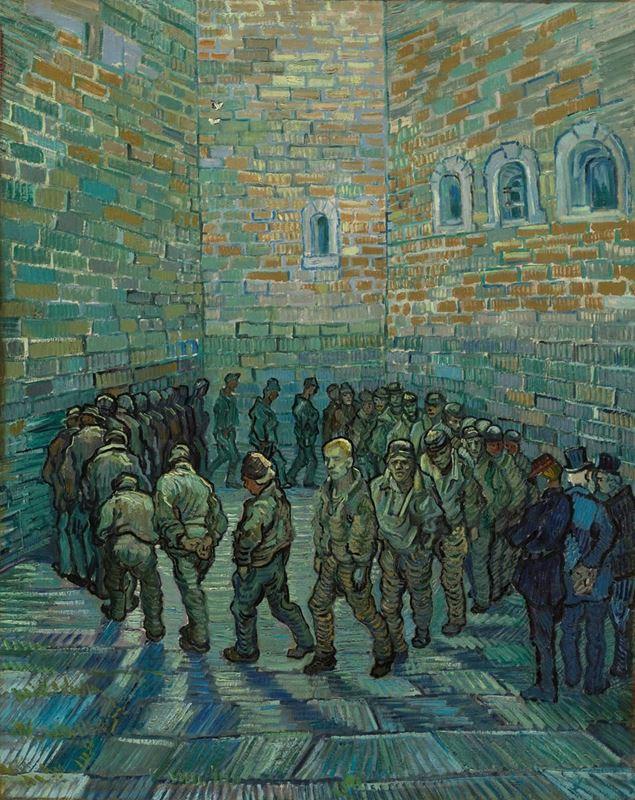 Hapishane Avlusu, (Gustave Doré'den esinle), 1890 resmi