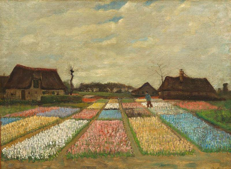 Hollanda'da Çiçek Yatağı, 1883 resmi