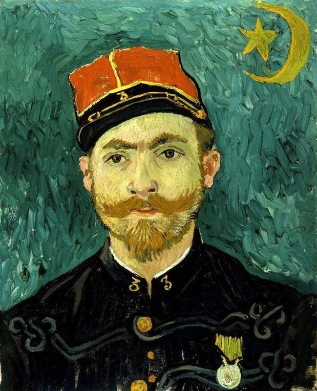 Teğmen Milliet'nin Portresi, 1888 resmi