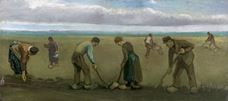 Show Peasants Planting Potatoes, 1884 details