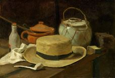Show Still Life with Straw Hat, 1881 details