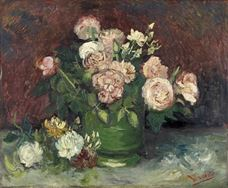Show Roses and Peonies, 1886 details