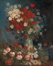 Show Still Life with Meadow Flowers and Roses, 1886-1887 details