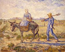 Show Morning. Going to Work (after Millet ), 1890 details
