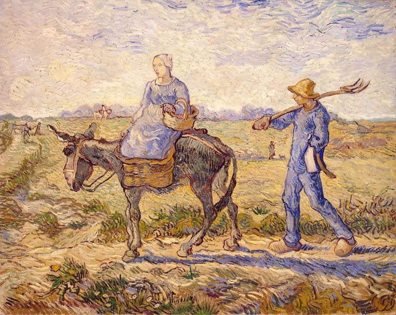 Sabah. Çalışmaya Giderken (Millet'den esinle), 1890 resmi