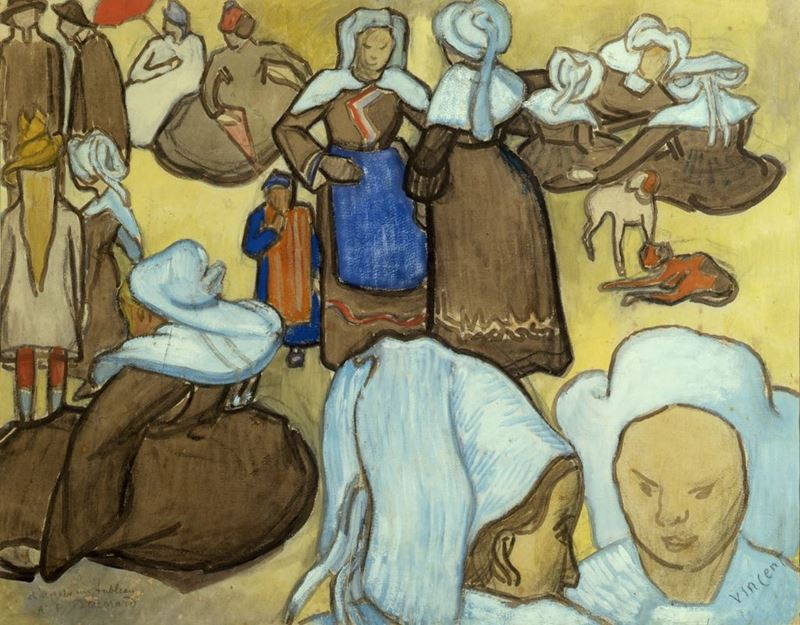 Bretonlu Kadınlar, 1888 resmi