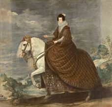 Show Queen Isabel de Borbón on Horseback, c.1635 details