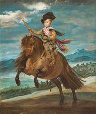 Prens Baltasar Carlos At Sırtında, 1634-1635
