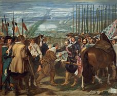 Show The Surrender of Breda (Las Lanzas), c.1635 details