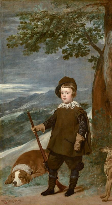 Prens Baltasar Carlos Av Giysileriyle, 1635-1636 resmi
