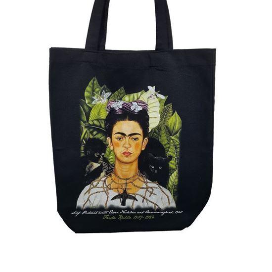 Frida Kahlo - Dikenli Kolye ve Sinekkuşu ile Otoportre - Çantaa