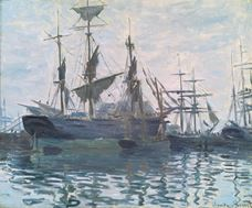 Show Ships in a Harbor, c.1873 details
