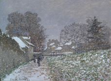 Show Snow at Argenteuil, c.1874 details