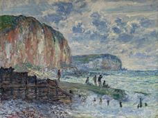 Show Cliffs of the Petites Dalles, 1880 details