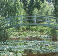 Show Japanese Bridge and the Water Lily Pool, 1899 details