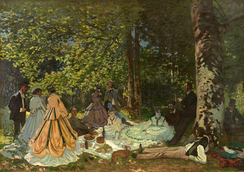 Kırda Öğle Yemeği, 1865 resmi