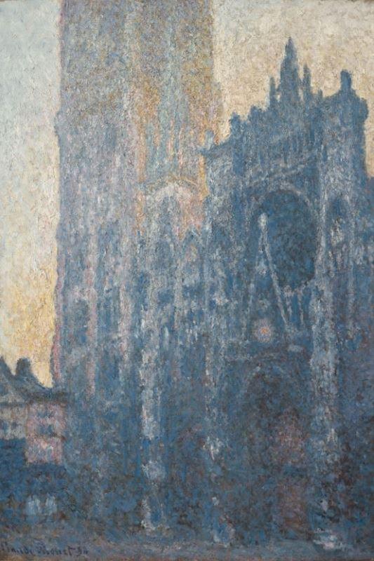 Rouen Katedrali, Portal ve Albane Kulesi (Sabah Etkisi), 1894 resmi