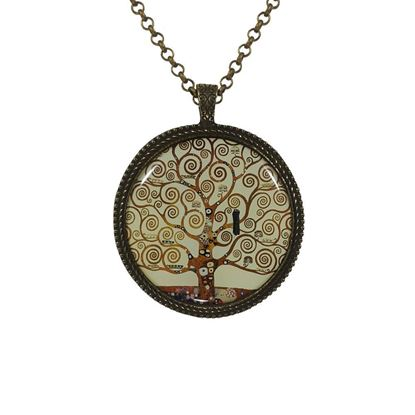 Klimt - Yaşam Ağacı - Kolye