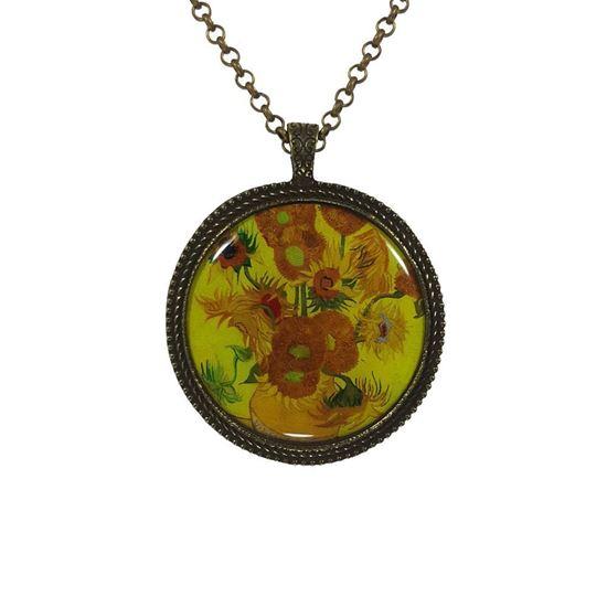Van Gogh - Ayçiçekleri - Kolye