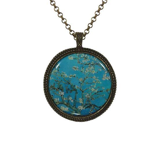 Van Gogh - Çiçek Açan Badem Ağacı - Kolye