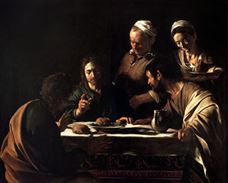 Show The Supper at Emmaus, 1605-1606 details