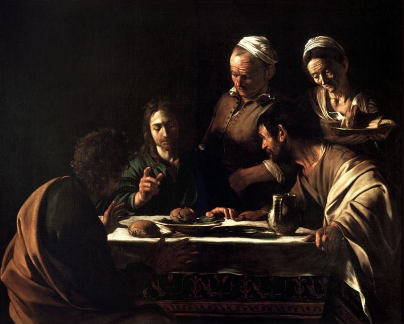 Emmaus'ta Yemek, 1605-1606 resmi