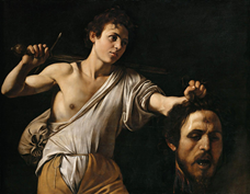 Show David with the Head of Goliath, 1600-1601 details