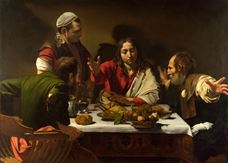 Show The Supper at Emmaus, 1601 details