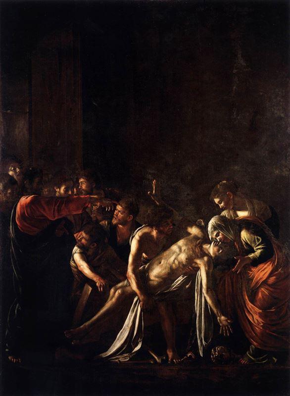 Lazarus'un Dirilişi, 1608-1609 resmi