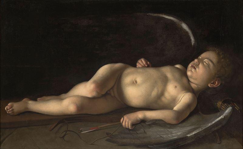 Uyuyan Eros, 1608 resmi