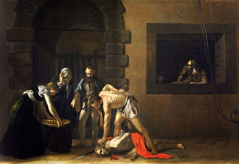 Vaftizci Yahya'nın Başının Vurulması, 1608 resmi