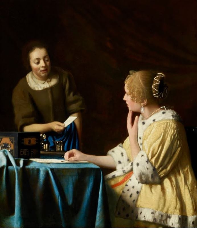 Evin Hanımı ve Hizmetçi, 1666-1667 resmi