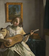 Show The Guitar Player, c. 1672 details
