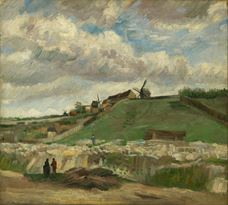 Show The Hill of Montmartre with Stone Quarry, 1886 details