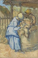 Show The Sheepshearer (after Millet), 1889 details
