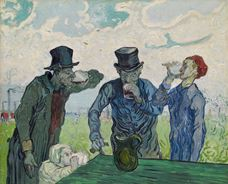 Show The Drinkers  (after Daumier), 1890 details