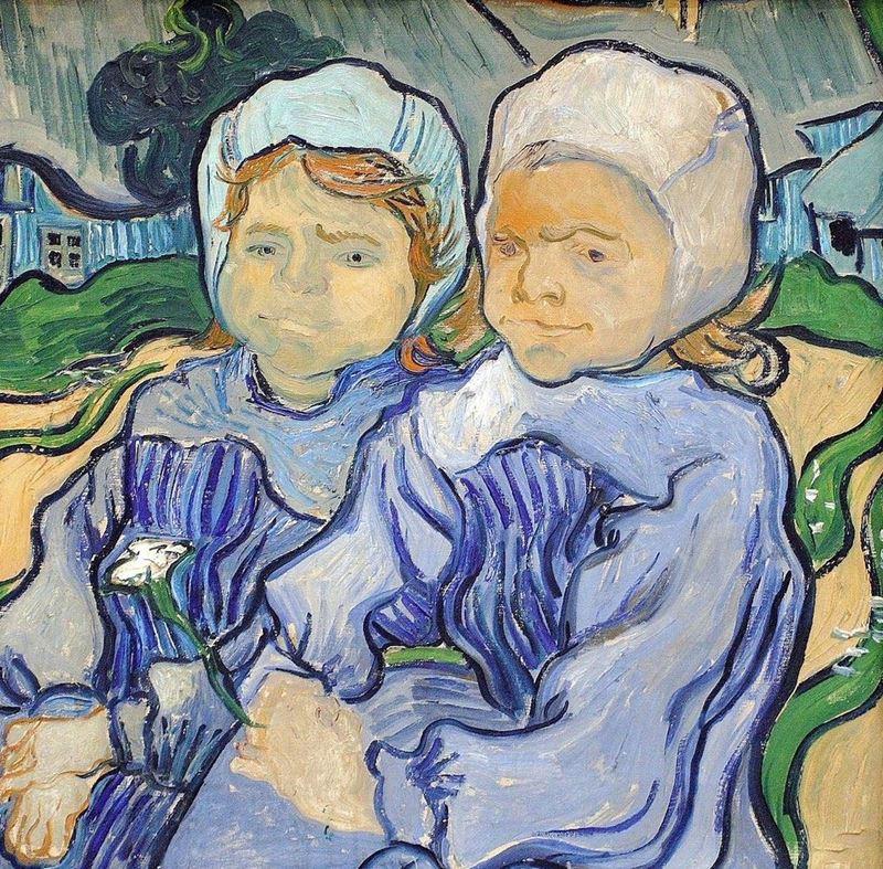 İki Küçük Kız, 1890 resmi