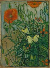 Show Butterflies and Poppies, 1890 details