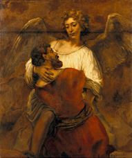 Show Jacob Wrestling with the Angel, c. 1659 details