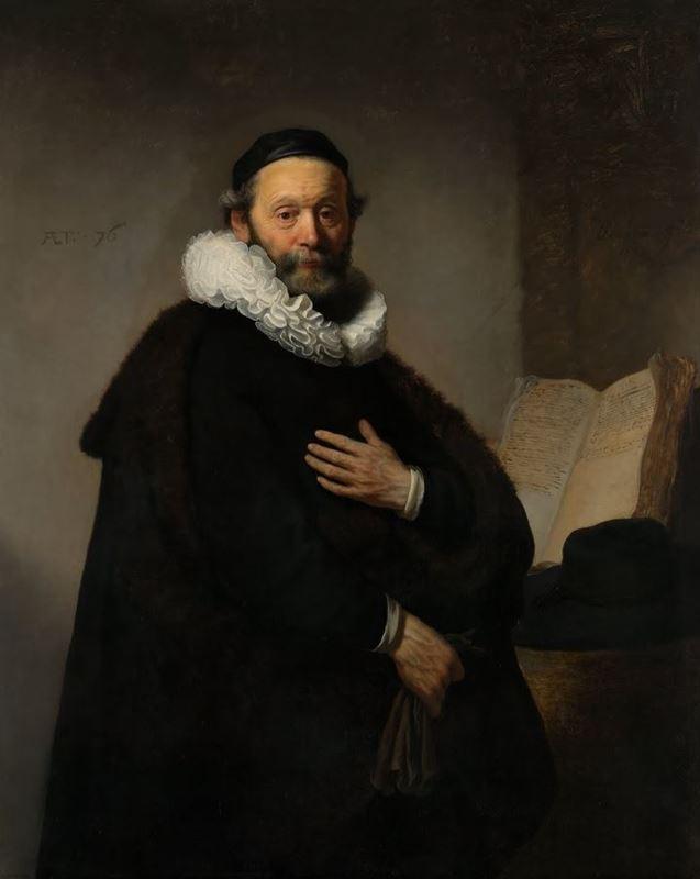 Johannes Wtenbogaert'in Portresi, 1633 resmi