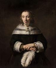 Devekuşu Tüyü Yelpazesi ile Bir Leydi Portresi, 1656-1658